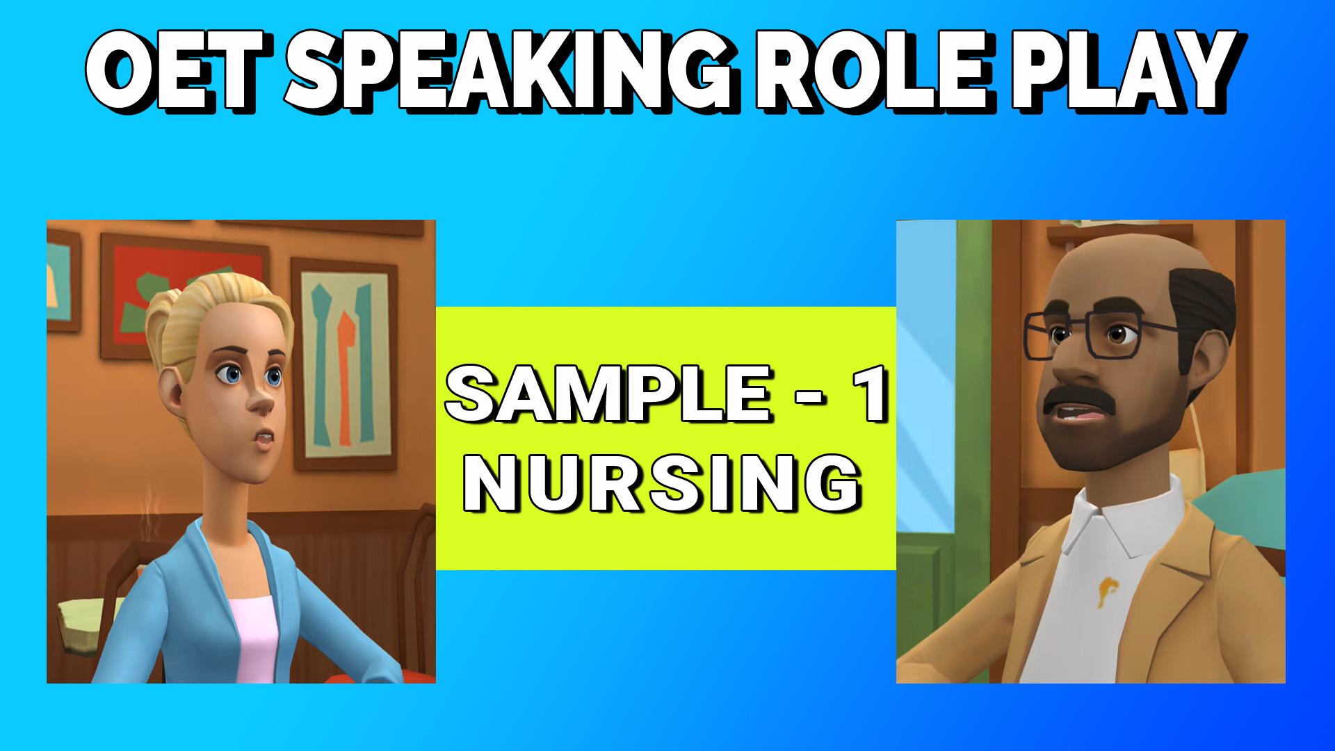 OET Speaking Role Play Sample -1
