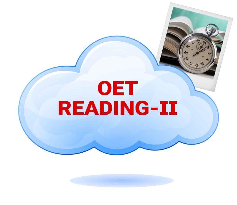 OET READING – PART 2